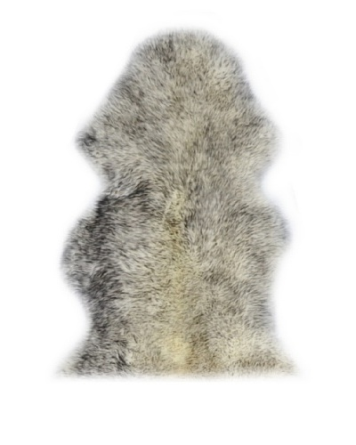 Natural Brand New Zealand Sheepskin Rug, Gradient Grey 2' x 3'As You See