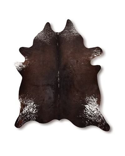 Natural Brand Kobe Cowhide Rug, S & P Chocolate/White, 7' x 5' 5