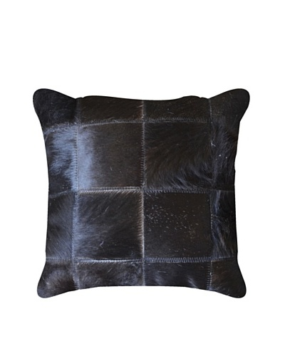 Natural Brand Torino Patchwork Pillow, Black