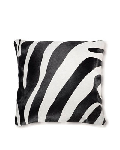 Natural Brand Torino Cowhide Pillow, Zebra Black/White