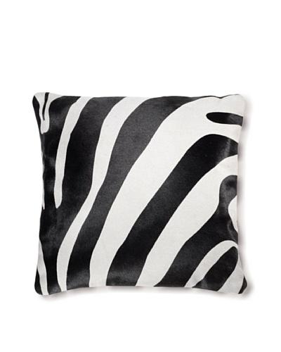 Natural Brand Torino Cowhide Pillow, Zebra, 16 x 16