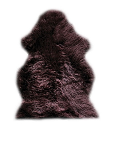 Natural Brand New Zealand Sheepskin Rug, Chocolate, 2' x 3'