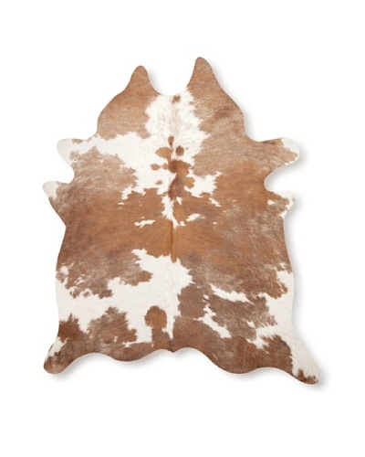 Natural Brand Kobe Cowhide Rug, Brown/White, 7' x 5' 5