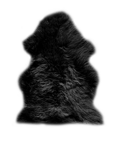 Natural Brand New Zealand Sheepskin Rug, Black, 2' x 3'As You See