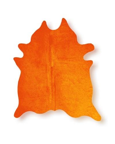 Natural Brand Geneva Cowhide Rug, Orange, 7' x 5' 5As You See