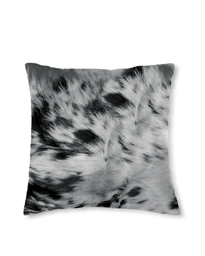 Natural Brand Torino Cowhide Pillow, S & P Black/White, 16 x 16