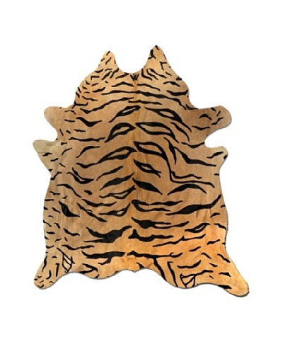 Natural Brand Togo Cowhide Rug, Tiger, 7' x 5' 5