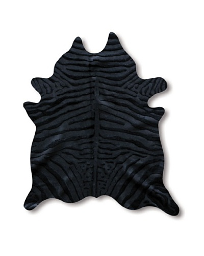Natural Brand Togo Cowhide Rug, Black/Black Zebra, 7' x 5' 5