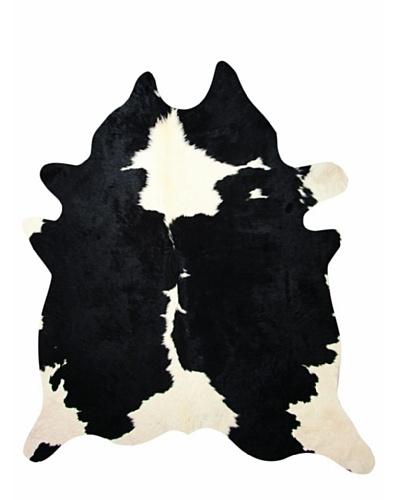 Natural Brand Kobe Cowhide Rug, Black & White, 6' x 7'