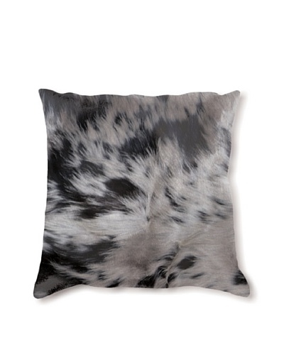 Natural Brand Torino Cowhide Pillow, S & P Black/White, 16 x 16