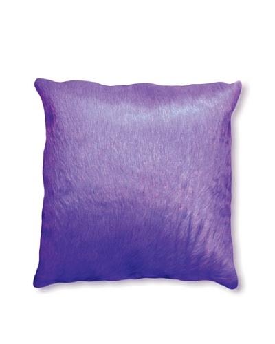 Natural Brand Torino Cowhide Pillow, Purple