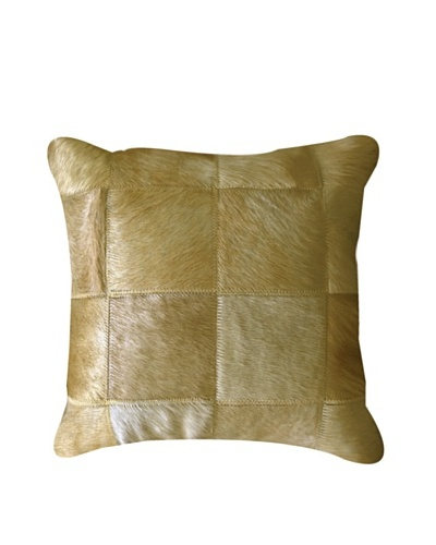 Natural Brand Torino Patchwork Pillow, Tan