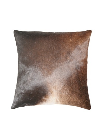Natural Brand Torino Cowhide Pillow, S & P Brown/White, 16 x 16