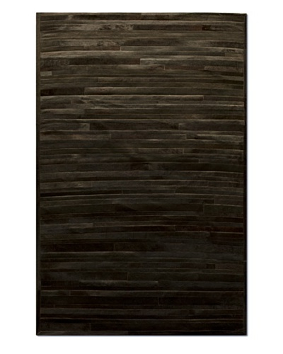 Natural Brand Linear Cowhide Rug