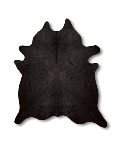 "Natural Brand Geneva Cowhide Rug, Black, 5'5"" x 7'"