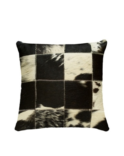 Natural Brand Torino Cowhide Patchwork Pillow, Black/White