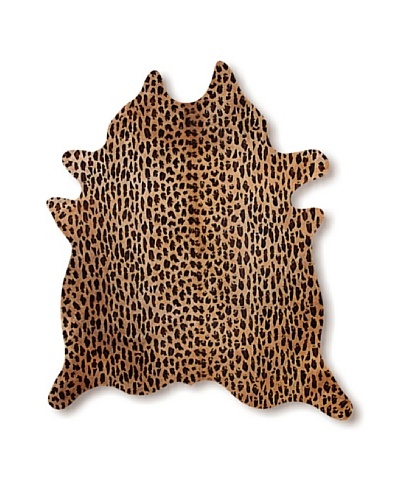 "Natural Brand Togo Cowhide Rug, Leopard, 7' x 5' 5""As You See"
