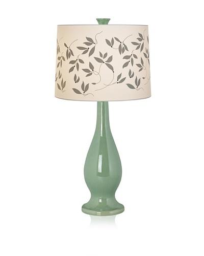 Pacific Coast Lighting Green Ceramic Vase Lamp