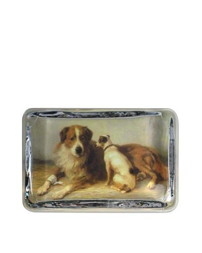 Victoria Fischetti 2 Dogs Paperweight