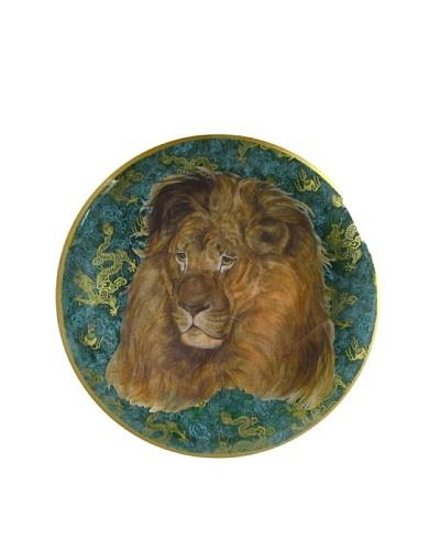 Victoria Fischetti Lion Head on Dragon Handmade Decoupage