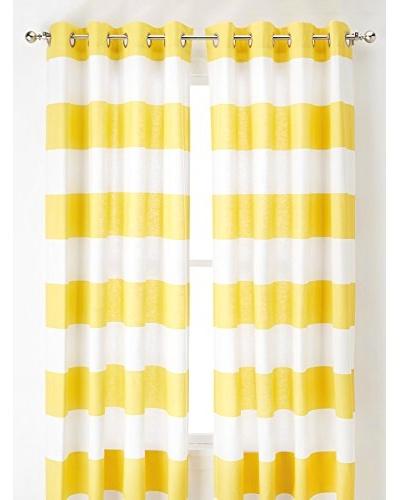 Nautica Cabana Stripe Curtain, Yellow