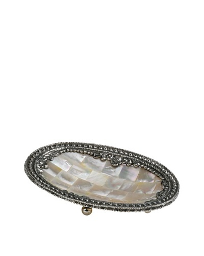 Neda Behman Oval Mother of Pearl & Sterling Silver Dish