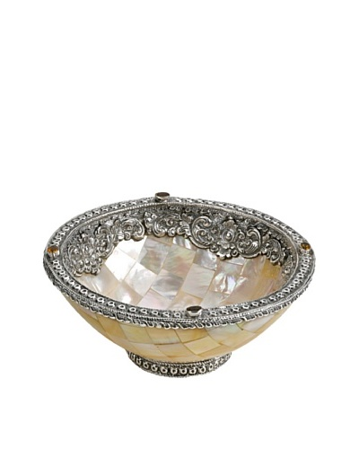 Neda Behman Mother of Pearl, Sterling Silver & Citrine Bowl