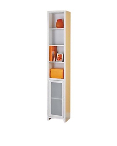 Neu Home Storage Tower With Frosted Glass Door, White