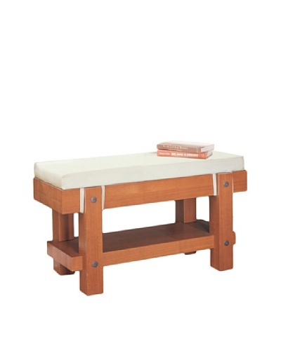 Neu Home Robust Bench with Cushion, Brown