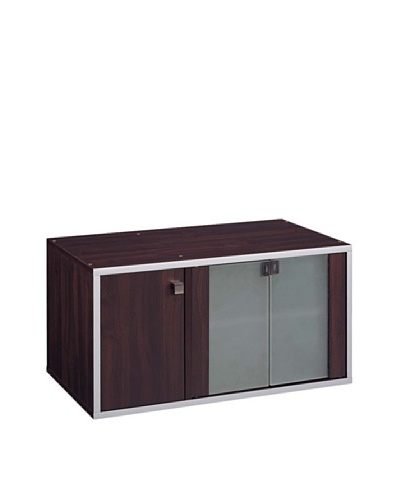 Neu Home Quadrant Media Unit Double Cube, Cherry