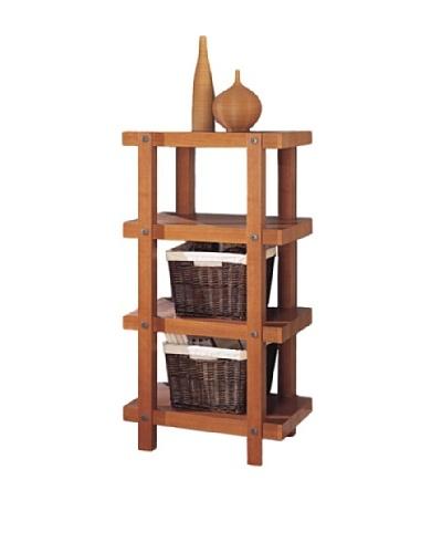 Neu Home Robust 4-Tier Shelf, Brown