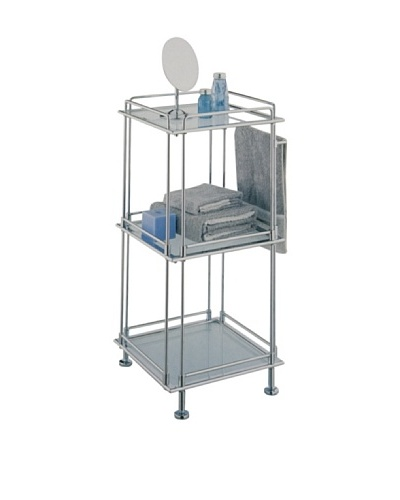 Neu Home French Square 3-Shelf Cart with Handles, Chrome