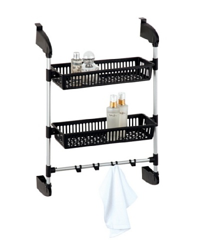 Organize It All Over The Door 2-Basket Unit With Hooks
