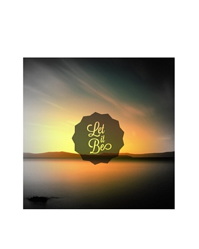 New Era Art Let It Be Wall Decal, 14 x 14