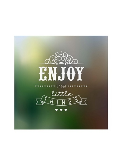 New Era Art Enjoy the Little Things Wall Decal, 14 x 14