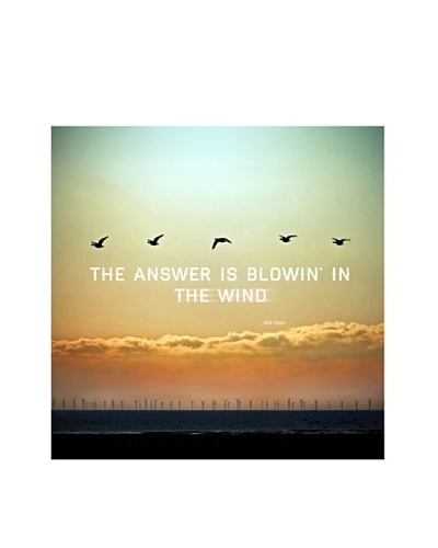 New Era Art The Answer is Blowin' in the Wind Wall Decal, 14 x 14