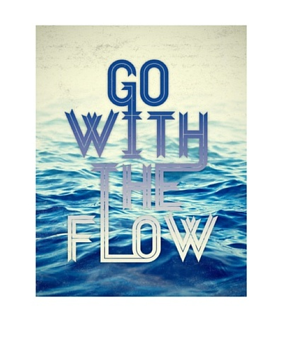 New Era Art Go With the Flow Wall Decal, 14 x 18