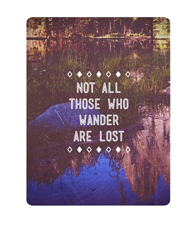 "New Era Art Not All Those Who Wander are Lost Wall Decal, 14"" x 18"""