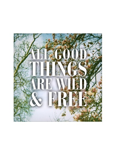New Era Art All Good Things are Wild & Free Wall Decal, 14 x 14