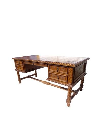 New World Trading Solomon Desk, Rustic