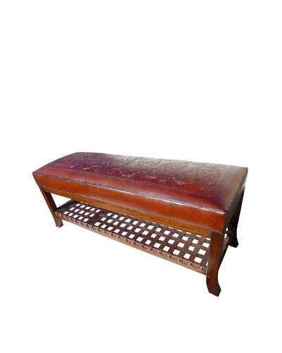 New World Trading Super Bench, Colonial, Antique Brown