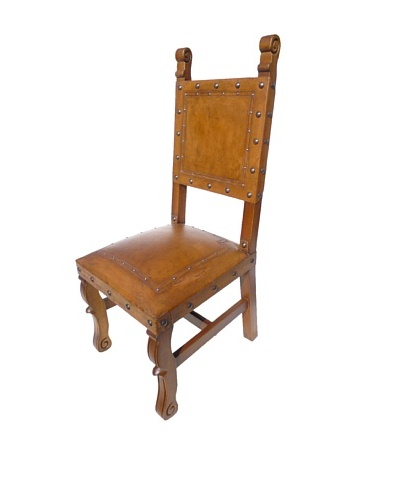 New World Trading Spanish Heritage Chair, Rustic