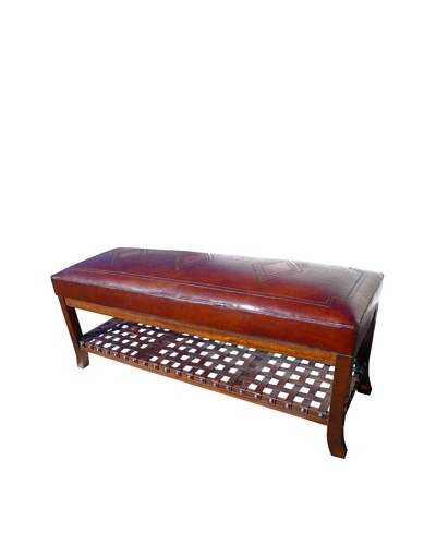 New World Trading Super Bench, Diamond, Antique Brown