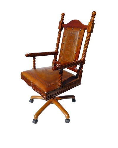 New World Trading Solomon Office Chair, Rustic
