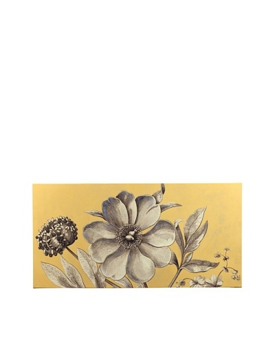 """New York Botanical Garden """"Sepia Color"""" Giclée on Canvas, Orange"""