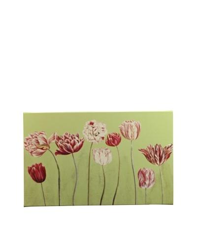 New York Botanical Garden Fun Tulips Giclée on Canvas, Green