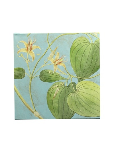 New York Botanical Garden Fabric Pattern Giclée on Canvas