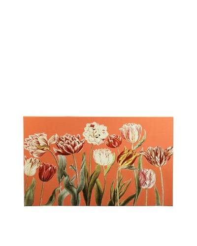 New York Botanical Garden Fun Tulips Giclée on Canvas, Red