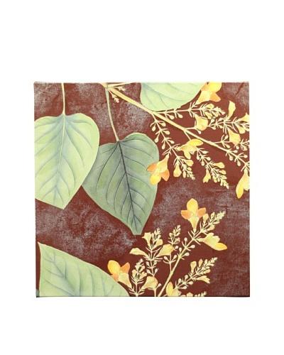 New York Botanical Garden Fabric Pattern Giclée on Canvas