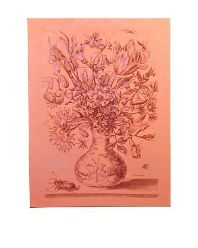 New York Botanical Garden Flower Sketch Giclée on Canvas